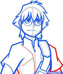 Aa Step 4 Worksheet How To Draw Bren Monsuno Step By Step Nickelodeon Characters