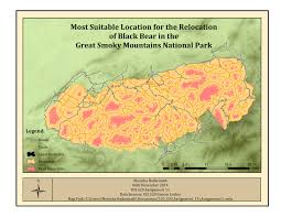Smoky Mountain National Park Map Suitability Analysis And Weighted Overlay