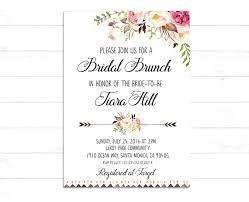 brunch invitations templates bridal brunch invitations ryanbradley co