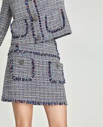 tweed skirt tweed skirt with gem appliqué view all skirts woman zara
