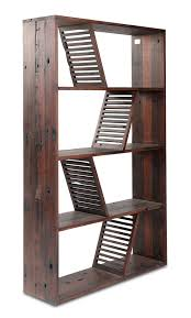 Dark Bookcase Designer Reclaimed Wood Bookcase Shipwood Dark By Fashion For Home