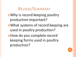 lesson 3 poultry production and record keeping ppt video online