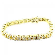 bracelet gold diamond tennis images Yellow gold mens diamond tennis bracelet 2 3cttw 7mm wikde with jpg