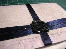 Seal Ribbon Ribbon And Wax Seal Inside Envelope Closeup Blogged Missive