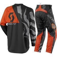 motocross gear canada scott 2017 mx new 350 race black orange jersey pant dirt bike