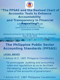 the ppsas and the revised chart of accounts debits and credits