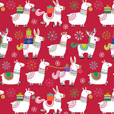 llama wrapping paper artwork collections lesley breen withrow illustration design