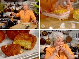 in paula deen s fried mac and cheese bacon bites serious