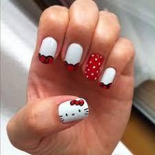 polka dot u0026 hello kitty nails yes to polka dots but no kitty