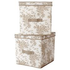 Ikea Storage Boxes Wooden Furniture Canvas Decorative Storage Boxes With Lids For Home