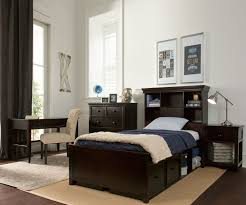 Bedroom Furniture Espresso Finish Craft Furniture Boston Twin Size Bookcase Bed With Drawer And