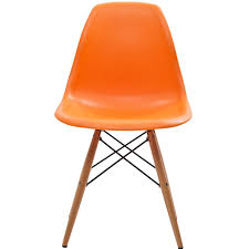 Orange Leather Chair Orange Dining Chairs Leather