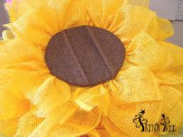 sunflower mesh wreath sunflower wreath tutorial trendy tree decor