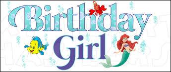 birthday ariel mermaid instant download