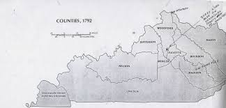 Kentucky Counties Map Formation Of Kentucky County