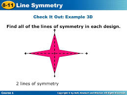 8 11 line symmetry warm up problem of the day lesson presentation