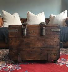 Vintage Trunk Coffee Table Coffee Tables Leather Trunk