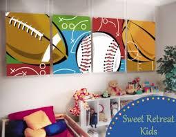Sports Murals For Bedrooms | diy little boys sports room ideas sports theme murals for your