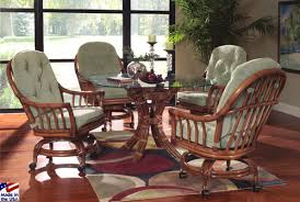 dining table with caster chairs kitchen table sets rolling chairs fresh walnut grove wicker caster