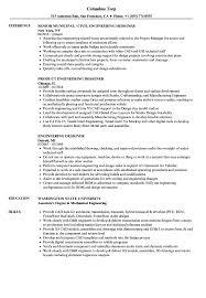 exle of a simple resume engineering designer resume sles velvet