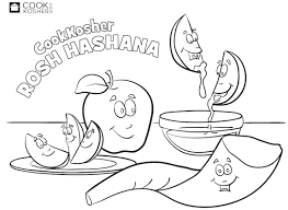 Free Rosh Hashana Coloring Pages Rosh Hashanah Colouring Pages