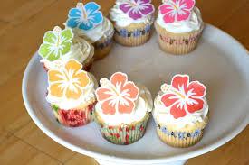 edible hawaiian tropical hibiscus flowers cake u0026 cupcake
