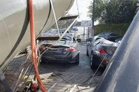 jaguar xkr s bmw 630i coupe crane crash crushed belgium 2012 3