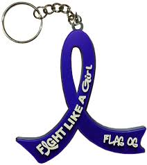 ra ribbon fight like a girl keychain key chain for and rectal cancer