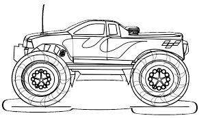 free printable monster truck coloring pages kids popular