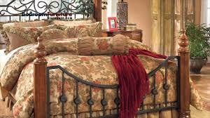 ashley wyatt poster bedroom set in cherry youtube