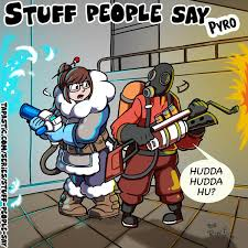 Pyro Meme - mei and pyro overwatch know your meme