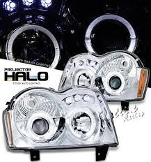 2005 jeep grand headlights jeep grand 2005 2007 clear halo projector headlights with
