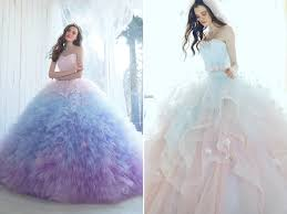 wedding dresses with color 27 princess worthy wedding dresses featuring pastel color