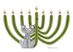 cat menorah cat cards hanukkah card menorah whimsical cat by
