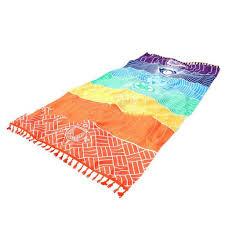 Bohemia Flag Bohemia Mandala Yoga Mat Blanket Rainbow Stripe Beach Towel