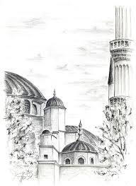 blue mosque sketch by thedeathspell on deviantart