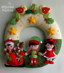guirlanda natal felt for christmas pinterest wreaths