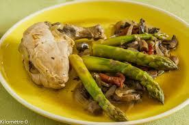 blogs recettes cuisine suprèmes de pintade aux asperges et chignons kilometre 0 fr