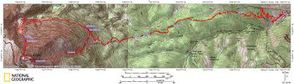 Colorado Fourteeners Map by Pikes Peak Via The Y Couloir With Decent Down The Barr Trail