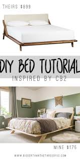 Midcentury Modern Bed Mid Century Inspired Diy Bed
