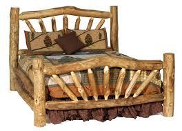Cheap Log Bed Frames How To Build A Log Bed Tutorial Home Design Garden