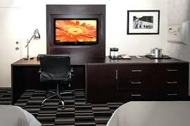 computer desk with tv mount hotel furniture custom desk computer