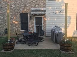 Stringing Lights In Backyard by Texas Light Post 3 Steps