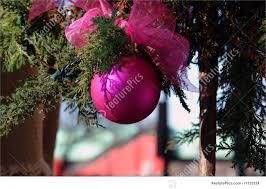 outside christmas ornaments photo