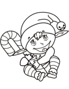 christmas elf coloring free printable coloring pages