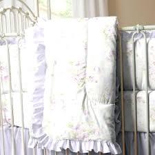Hibiscus Crib Bedding Decoration Flower Crib Bedding Lavender Shabby Floral Hibiscus