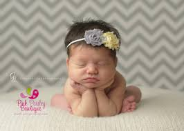 infant headbands baby girl headband baby headbands yellow grey shabby headband