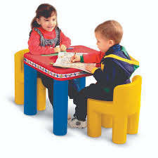 plastic play table and chairs little tikes classic table chairs set