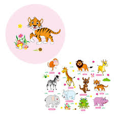 compare prices on adventure nursery online shopping buy low price lovely adventure animals wall stickers for kids nursery rooms baby home decor poster wall decals wallpaper