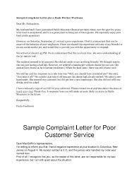 Formal Complaint Letter Against An Employee complaint letters